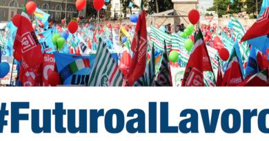 #FuturoalLavoro, 9 FEBBRAIO 2019 Piazza San Giovanni manifestazione unitaria CGIL-CISL-UIL