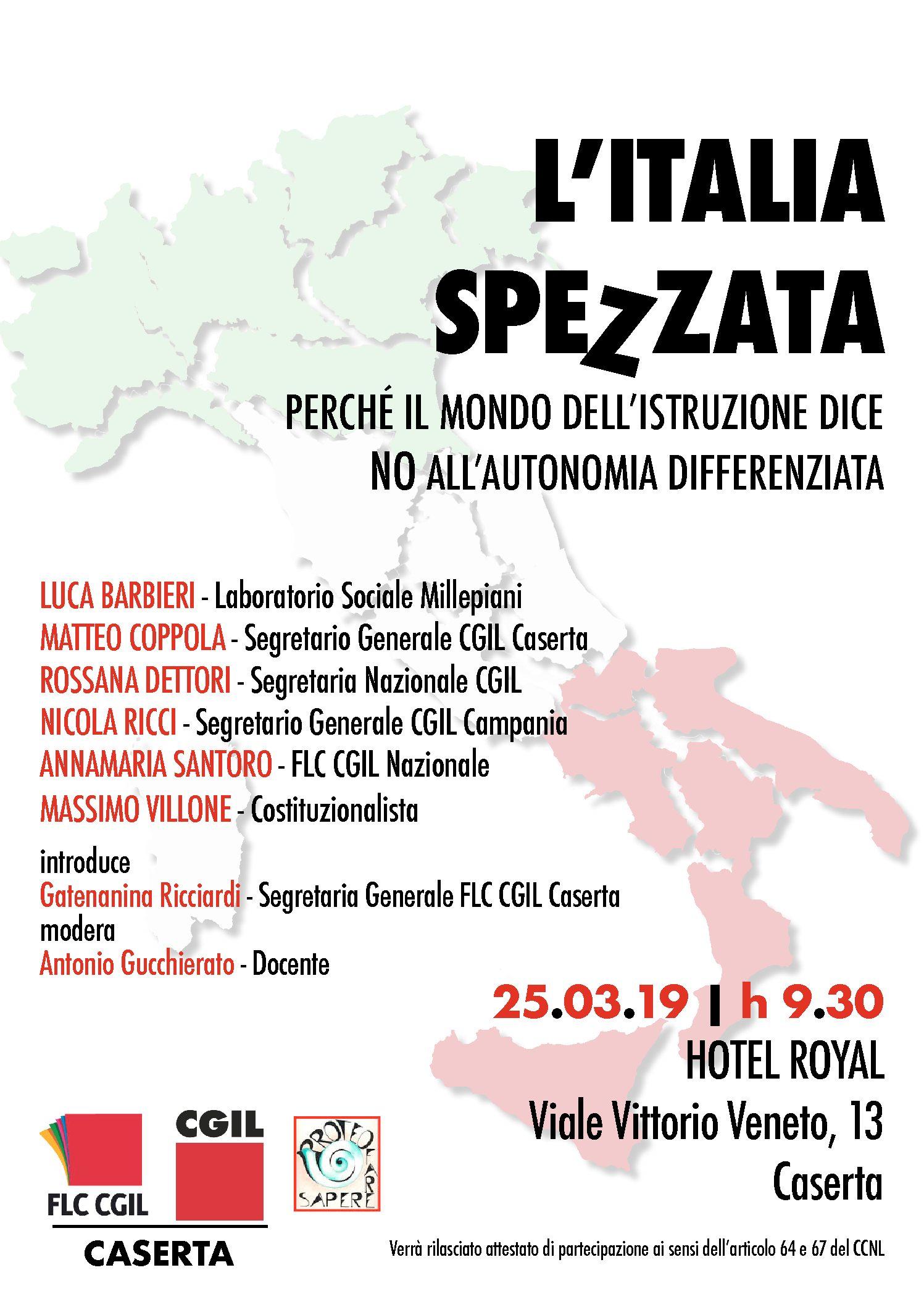 L'ITALIA SPEZZATA, perchè il mondo dell'Istruzione dice NO all'autonomia differenziata
